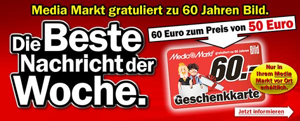 Aktion: 60€ Media Markt Gutschein für 50€ kaufen ...