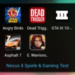 Nexus 4 Spiele und Gaming Test