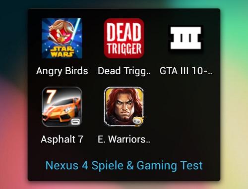 Nexus 4 im Spiele und Gaming Test (Video)