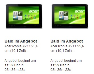 Acer Iconia A211 Blitzangebot