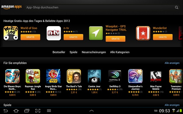 Amazon App Store Greatest Hits 2012