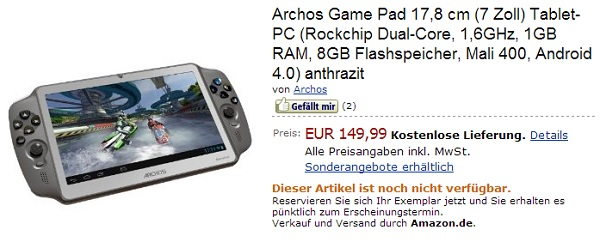 Archos Gamepad Amazon