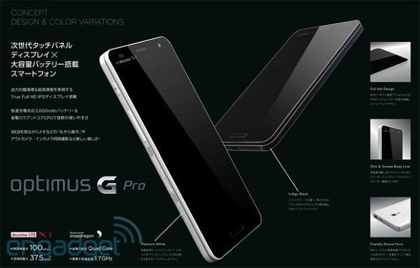 LG Optimus G Pro anzeige