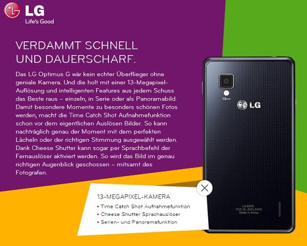 LG Optimus G ab dem 1. April in Deutschland und bereits im ersten deutschen Test (Videos)