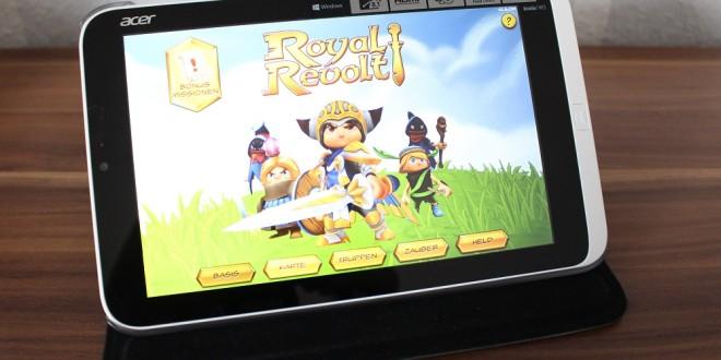 Acer Iconia W3 Spiele und Gaming Test – Diablo 3, Torchlight, Royal Revolt und Jetpack Joyride
